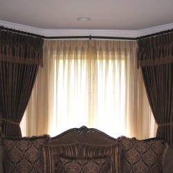 Bay Window Drapes and Sheers