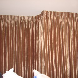 Faux Silk Drapes